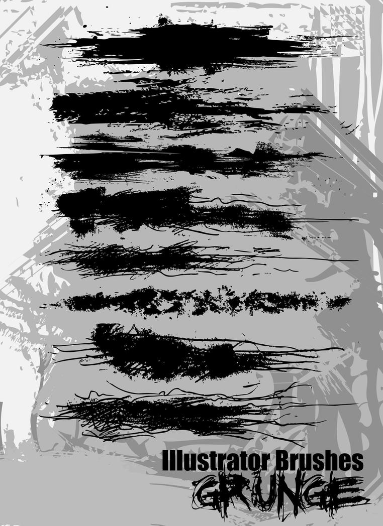 Illustrator Grunge Brushes by themeatgrinder