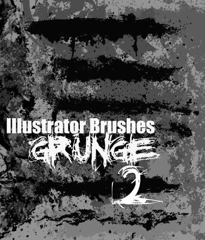 Illustrator Grunge Brushes 2 by themeatgrinder