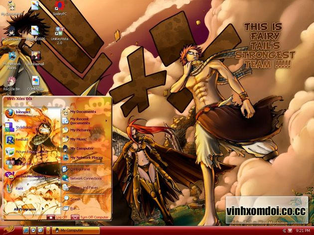 Theme Xp: Fairy tail by vinhxomdoi