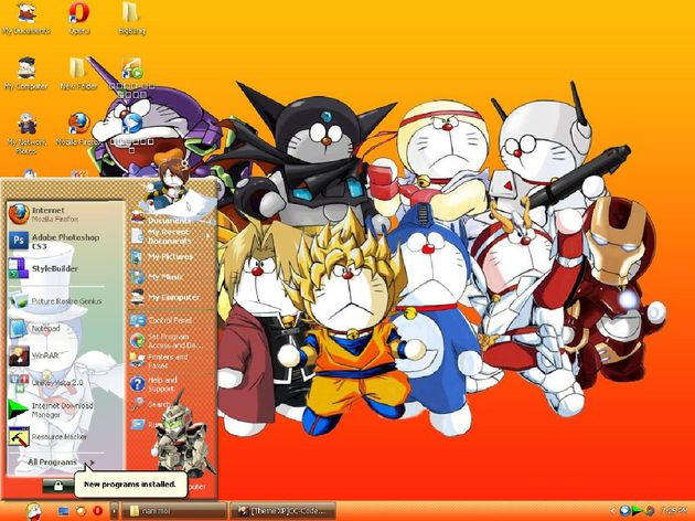Doremon Theme for XP by vinhxomdoi