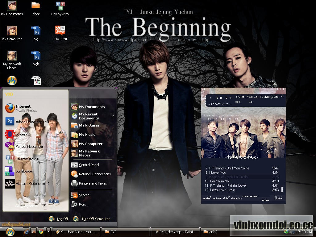 JYJ Theme for XP by vinhxomdoi