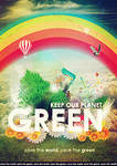 Keep our Planet Green PSD
