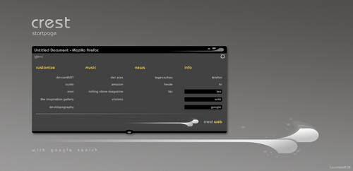 Crest Startpage by Leuchtstoff