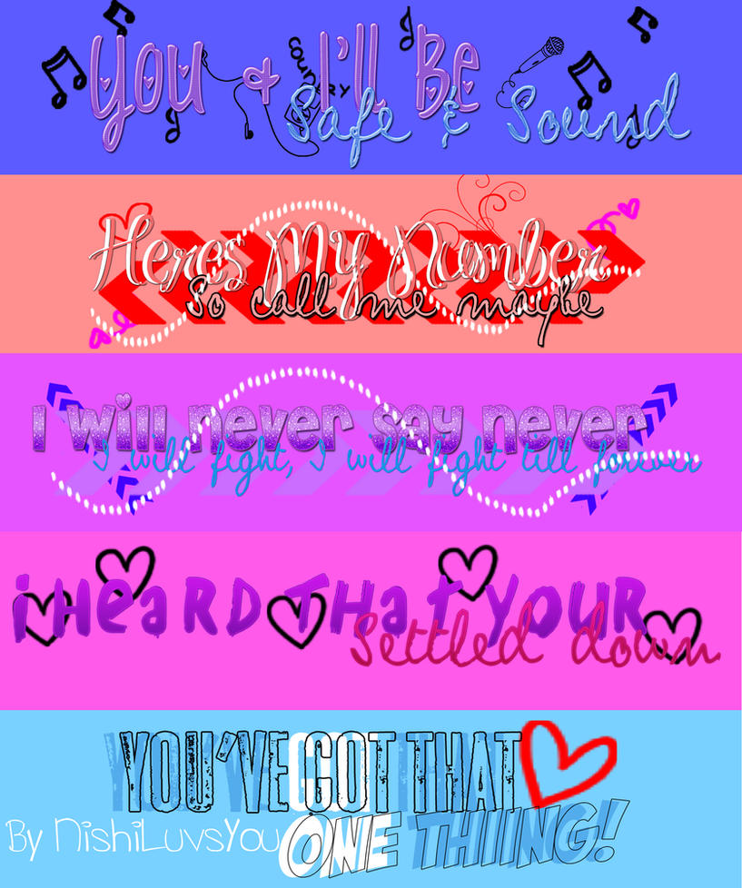 5 Song Png Pack by NishiLuvsYou on DeviantArt