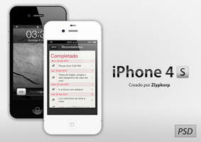 Apple iPhone 4S PSD by Zlypkorp