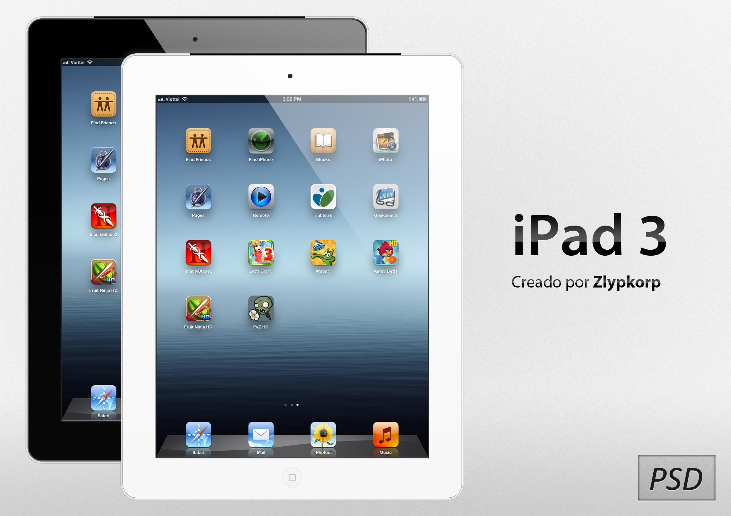 Apple iPad 3 PSD