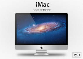 Apple iMac PSD by Zlypkorp