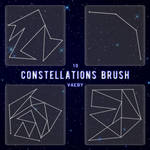 Pack 1O Constellations Brush PNG / Vaeby