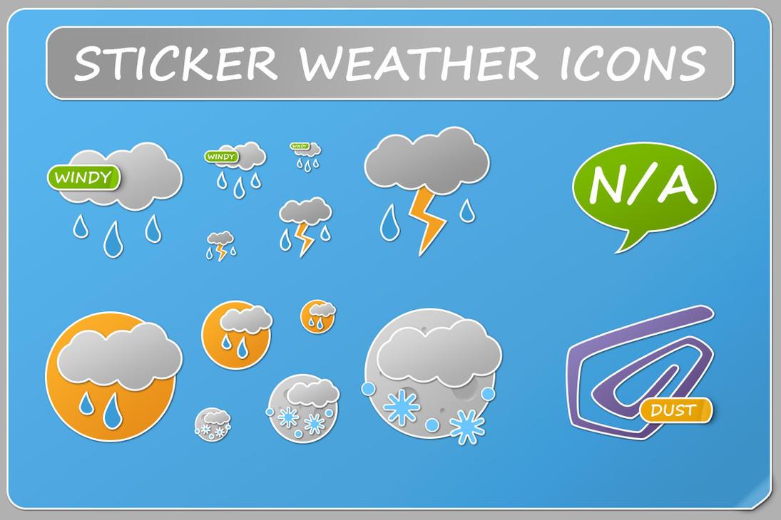 Sticker Weather Icons by KorToIk