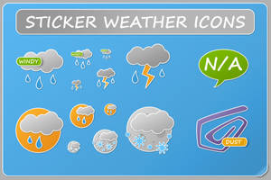 Sticker Weather Icons by KorToIk