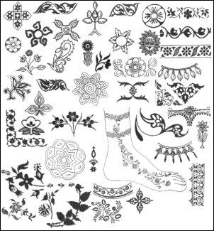 Henna brushes by h8machine
