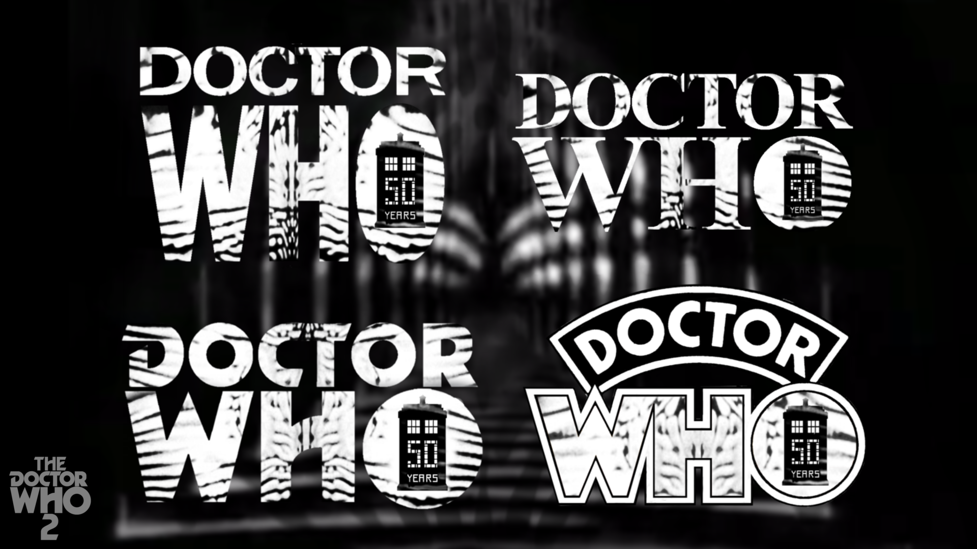 50th Hairstyle: Doctor Who 50th Anniversary Style Logos Pack 1 By
