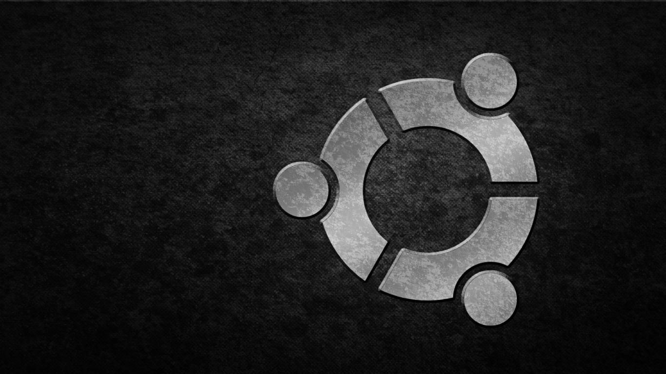 ubuntu black silver grunge by hanciong
