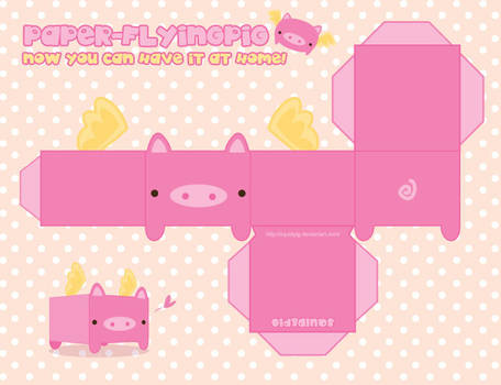 Paper Flying Pig