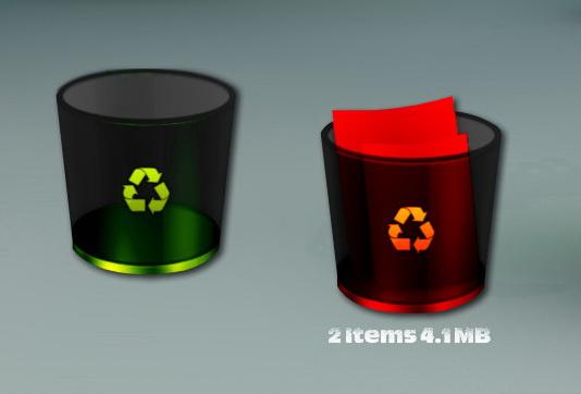 Glossy Recycle Bin 2 for xwidget by jimking