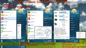 Windows Seven Start Menu for xwidget