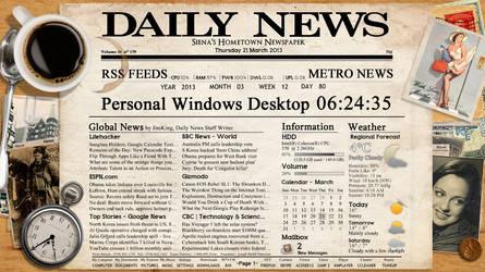 Newspaper FULL SCREEN Widget for xwidget by Jimking