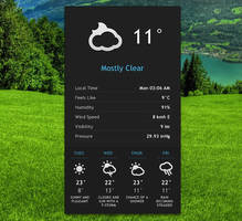Elegant Weather v2 for xwidget by Jimking