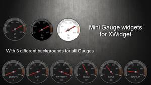 Mini Gauge Widgets Pack for xwidget (UPDATED)