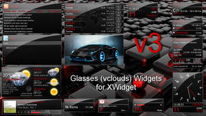 Glasses (vclouds) Widgets Pack v3 for xwidget