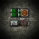Animated Steampunk Clock for xwidget