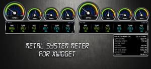 Metal System Meter for xwidget