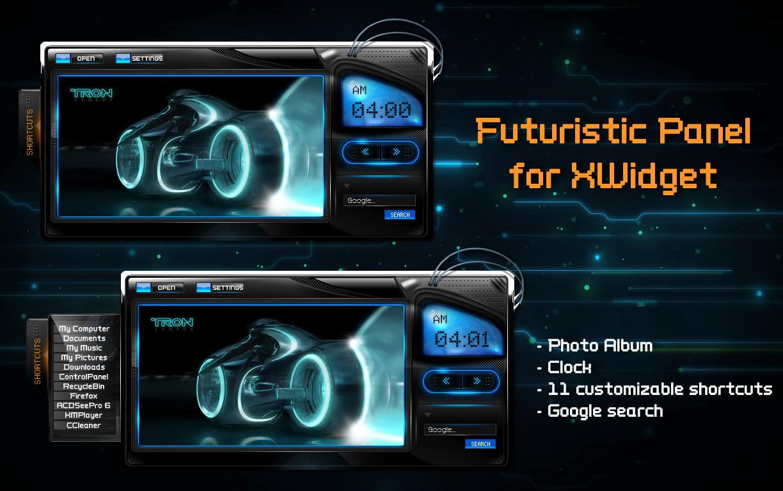 Futuristic Clock Futuristic Album Panel For Xwidget By Jimking On Deviantart