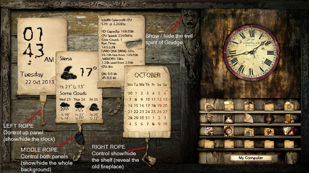Grunge Desktop FULL SCREEN For Xwidget By Jimking