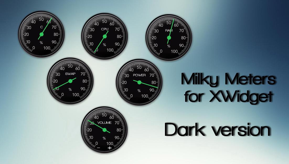 Milky Meters Dark for xwidget by jimking