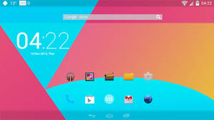 Android KitKat Launcher FULL SCREEN for xwidget by Jimking