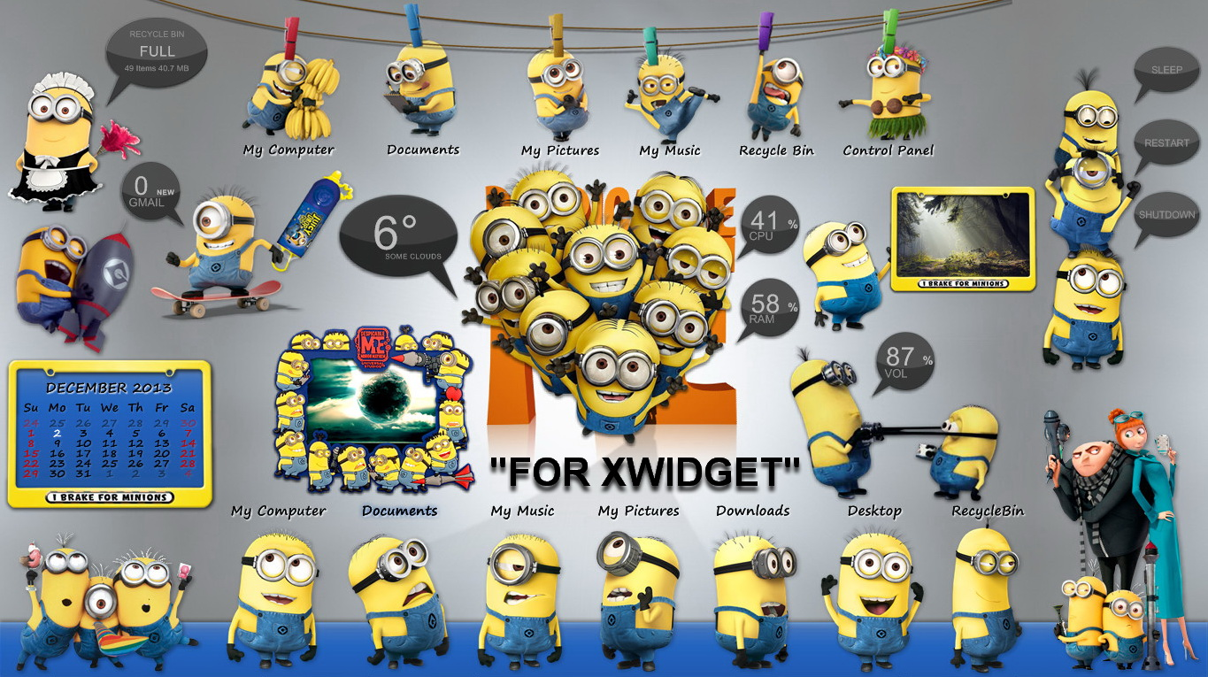 Despicable Me Minions Suite For Xwidget By Jimking On Deviantart