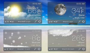 Sleek Weather for xwidget