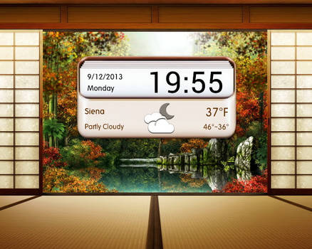 Wooden Letterbox for xwidget