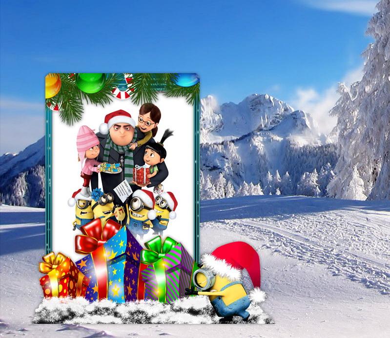 Christmas Photo Frame Minion for xwidget by Jimking on DeviantArt