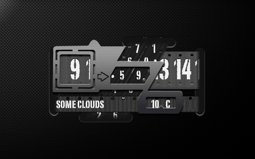 iZono Super Clock for xwidget by jimking