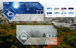 Glass Style Weather HD for xwidget