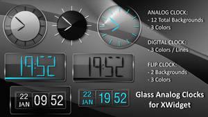 Glass Clock Widgets HD for xwidget (fixed)