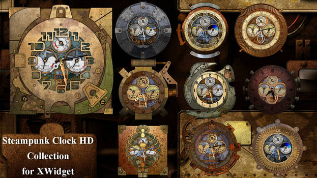 Steampunk Clock HD Collection for xwidget (HOT)