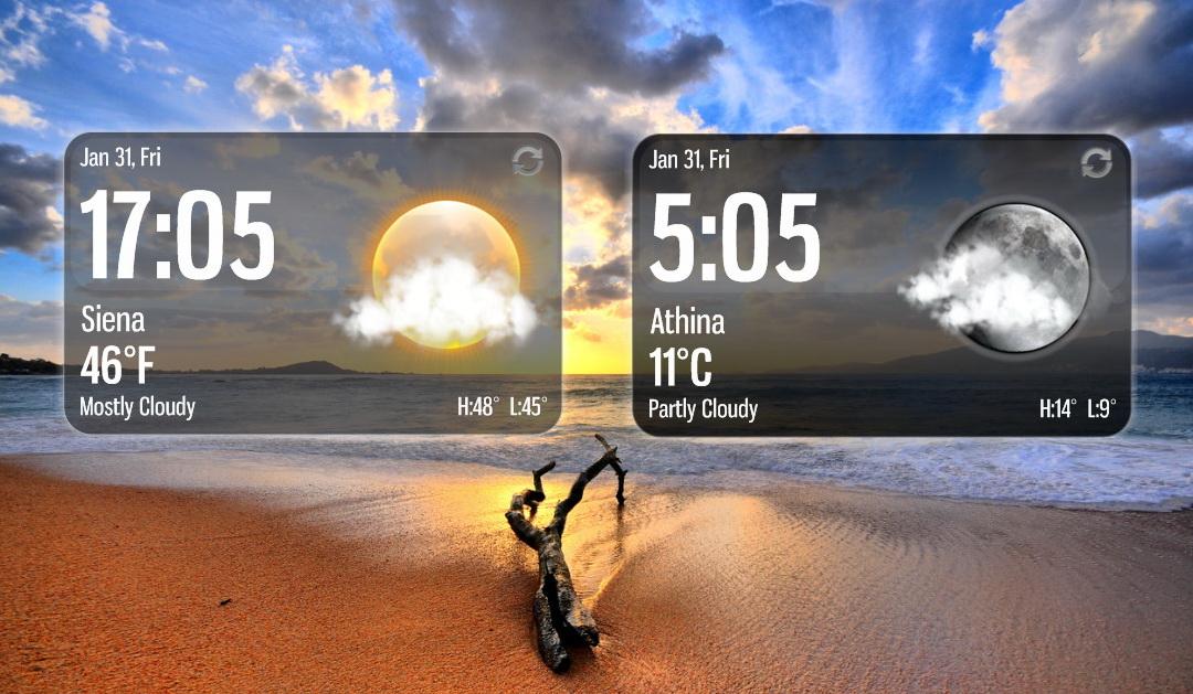 Aero Glass Weather for xwidget by jimking