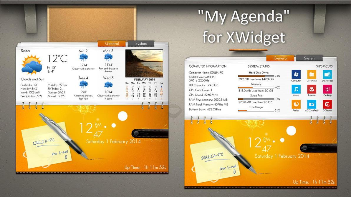 My Agenda for xwidget by jimking