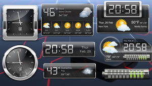 Metallic Widgets HD v2 for xwidget