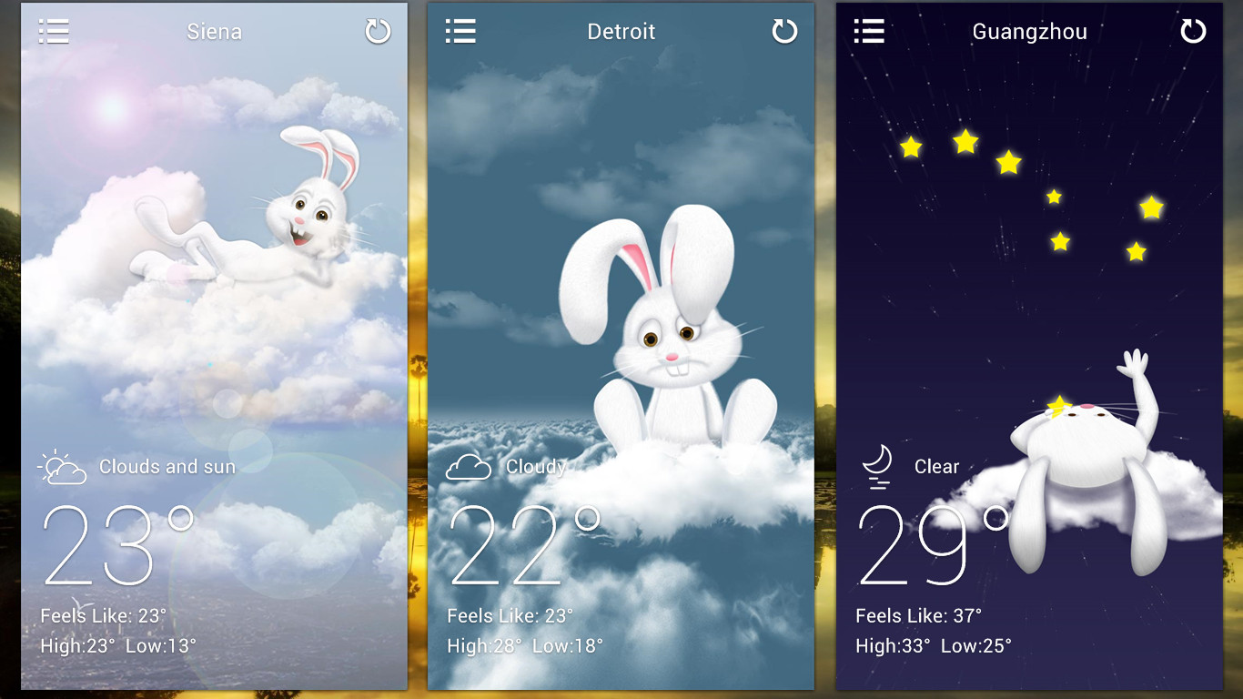 Mr Rabbit Weather EX for xwidget by jimking