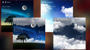 Realistic Weather HD for xwidget