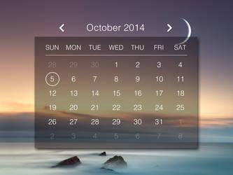 Daily Calendar for xwidget by Jimking