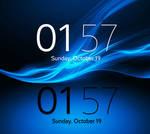 Xperia Z3 Digital Clock Widget for xwidget