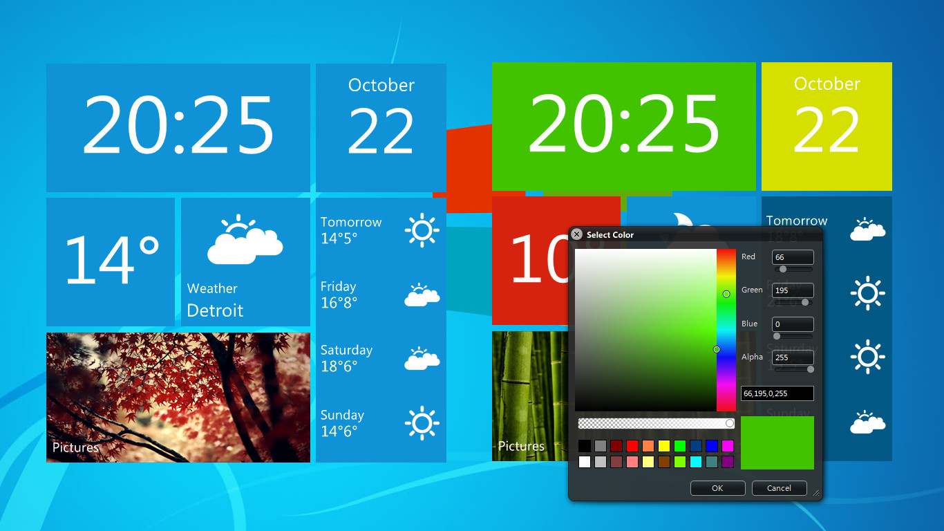 how to put weather widget on windows 10