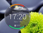 Motorola Droid Turbo Circle Weather for xwidget