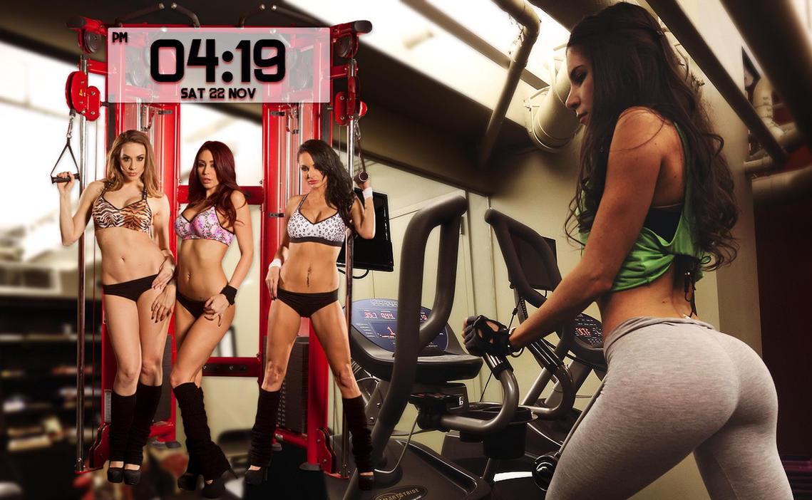 Fitness Girls Clock for xwidget by jimking