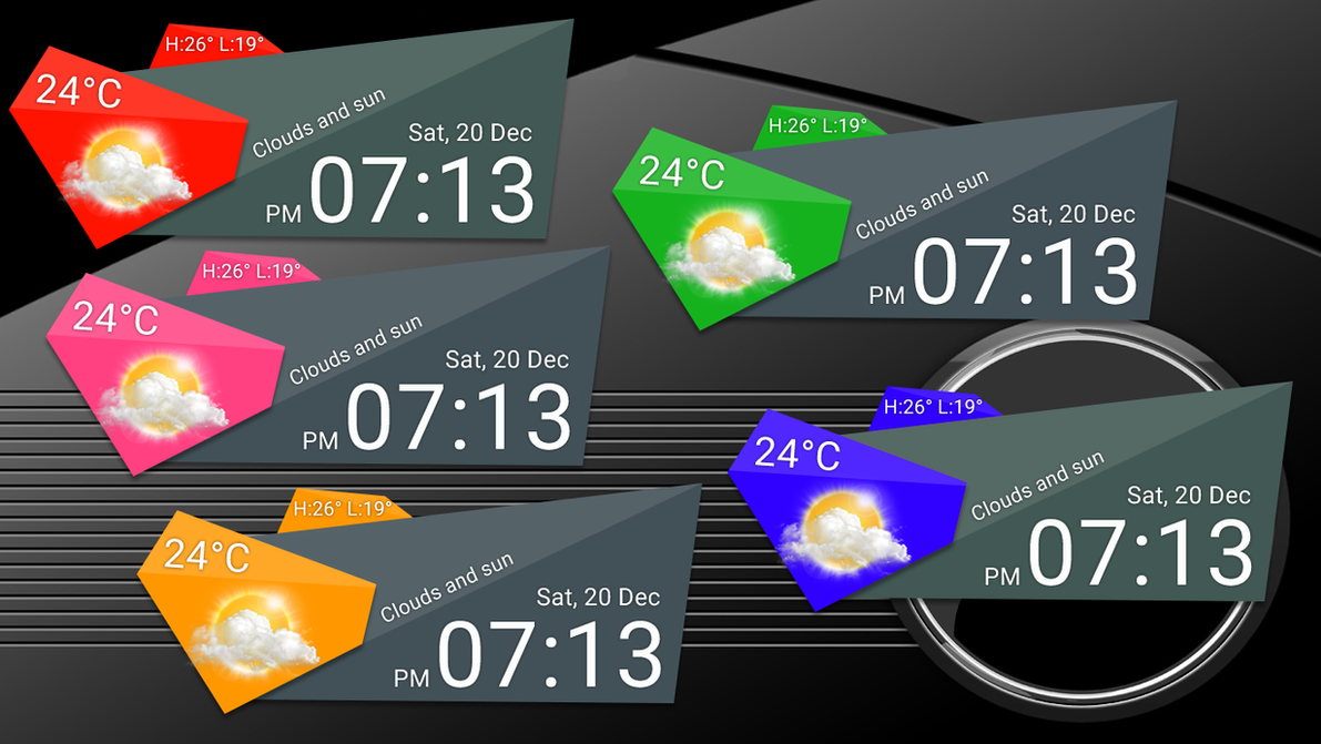 Rclock Style 9 for xwidget by jimking