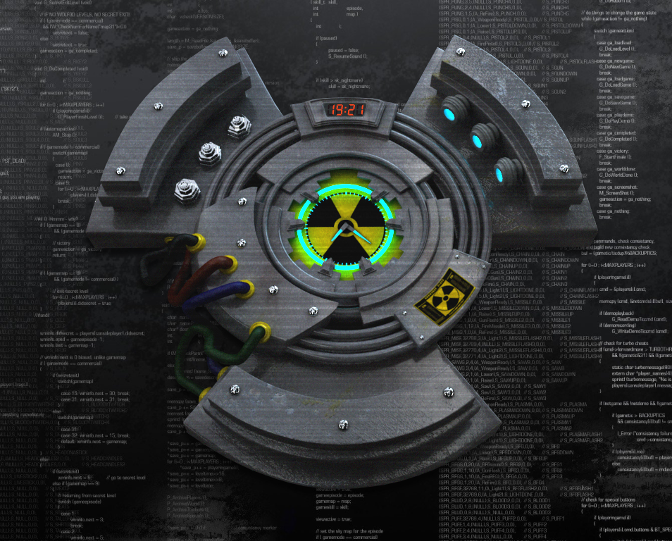 Doom Radioactive Time for xwidget by jimking